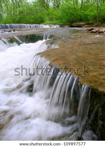Prairie Creek of the Des Plaines Conservation Area in Illinois - stock photo