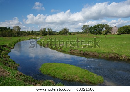 Prairie Stream - stock photo
