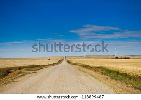 Prairie views of farmland in Southern Alberta Canada - stock photo