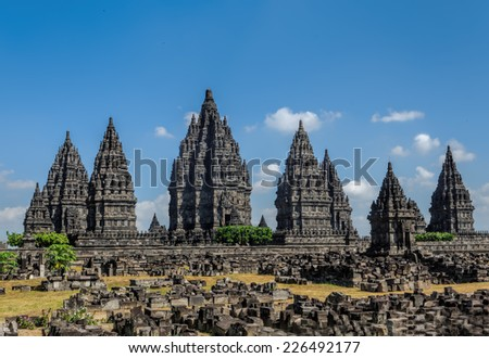 Prambanan in Java, Indonesia - stock photo