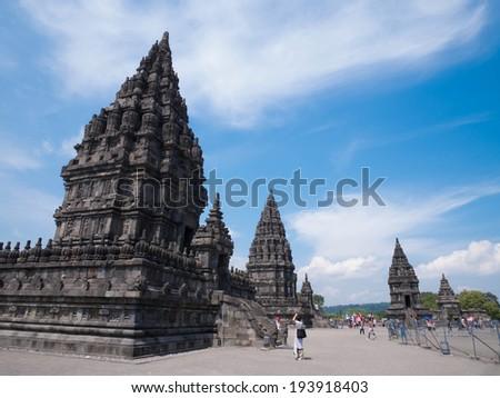 Prambanan Temple in Yogyakarta, Indonesia - stock photo