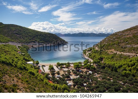 Prapratno bay on Peljesac peninsula, Croatia, Europe - stock photo