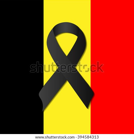 pray for Brussels , Belgium 22 march 2016  - stock photo