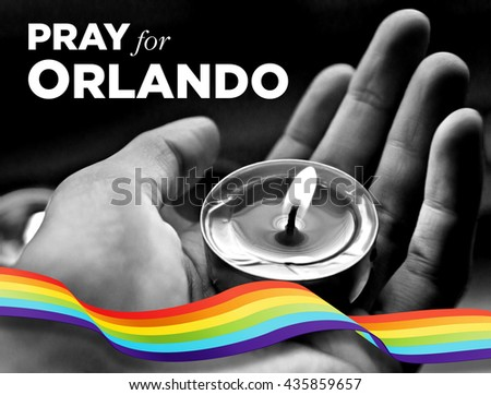 Pray for Orlando - 12 June 2016 - stock photo
