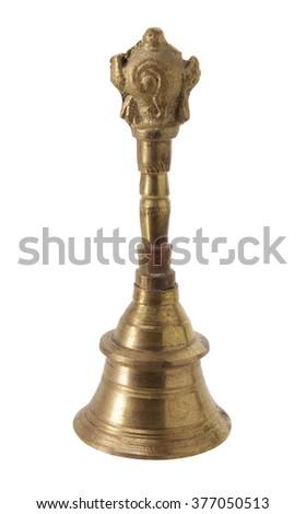 Prayer Bell on White Background - stock photo