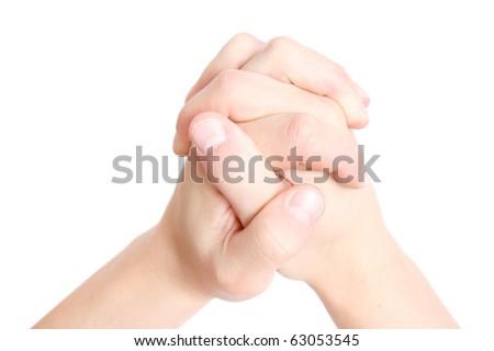 Praying - stock photo
