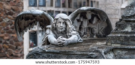 Praying angel - stock photo