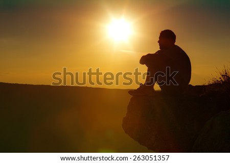 Praying, Depression, Sadness. - stock photo