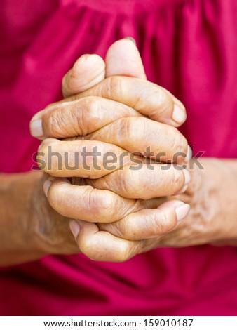 Praying Hands - stock photo