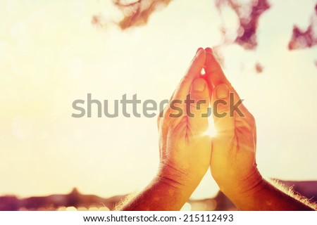 Praying hands - stock photo