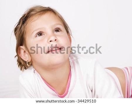 Pre-school girl - stock photo
