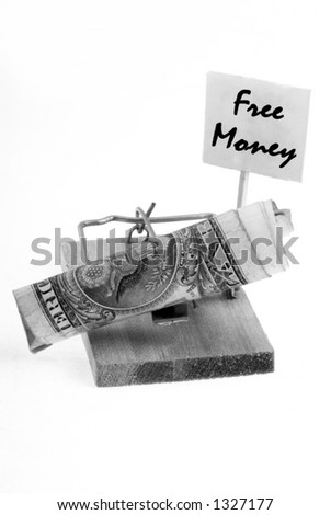 Predatory lending 1 B&W - stock photo