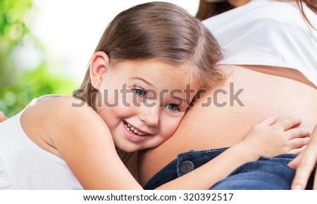 Pregnancy. - stock photo