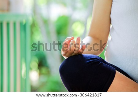 pregnancy relaxation - stock photo