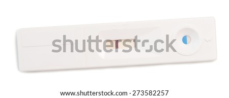 pregnancy test isolated on a white background - stock photo
