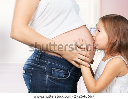 Pregnant, expecting, birth. - stock photo