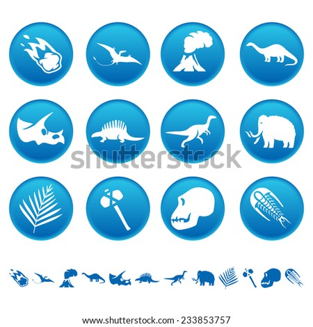 Prehistoric icons - stock photo