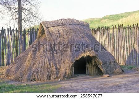 Prehistoric Mound, Cahokia, Illinois - stock photo