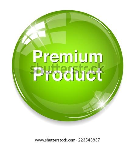 premium product button - stock photo