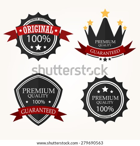 Premium Quality Label sets - stock photo