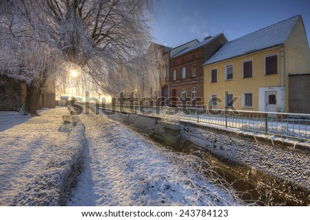 Prenzlau is a city in the Uckermark District of Brandenburg in Germany. - stock photo