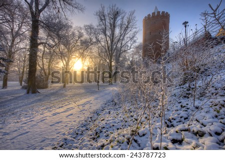 Prenzlau is a city in the Uckermark District of Brandenburg in Germany - stock photo
