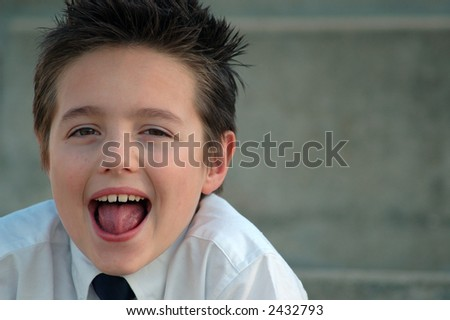 Prep school student; with copy space. - stock photo