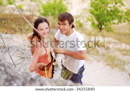 preparation for the ascending - stock photo