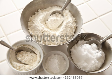 Preparation of bread making - stock photo