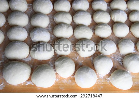 prepare czech traditional cakes as nice food background - stock photo