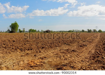 Prepare the planting.The conversion of vegetable crops of farmers. - stock photo