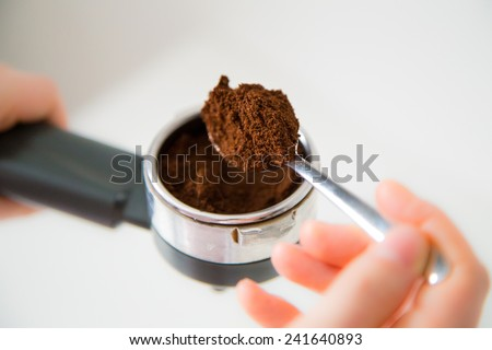 preparing coffee - stock photo