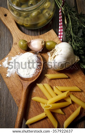 preparing food for cooking - stock photo