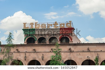 Preparing for Independence Day in Saltillo Mexico - stock photo