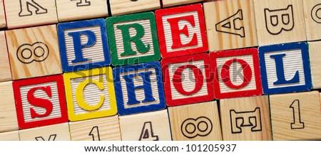 Preschool blocks - stock photo