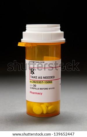 Prescription bottle - stock photo