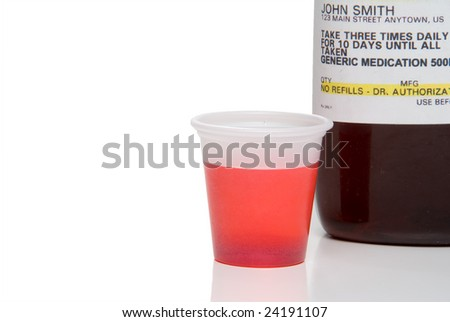 Prescription Cough Medication - stock photo