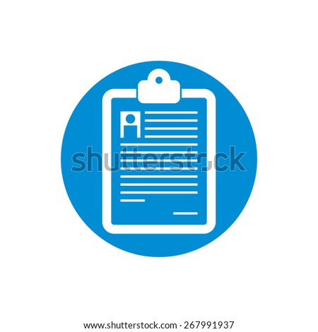 Prescription icon isolated. - stock photo
