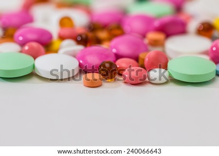 Prescription Pills and Medicine Medication Drugs - stock photo