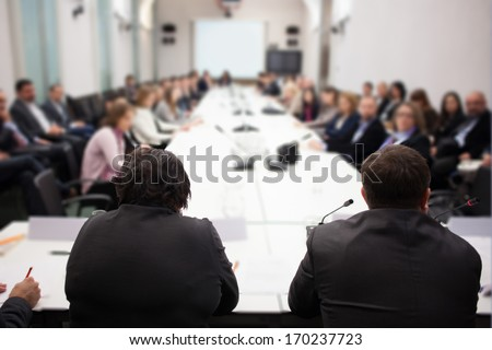 presentation at conference - stock photo