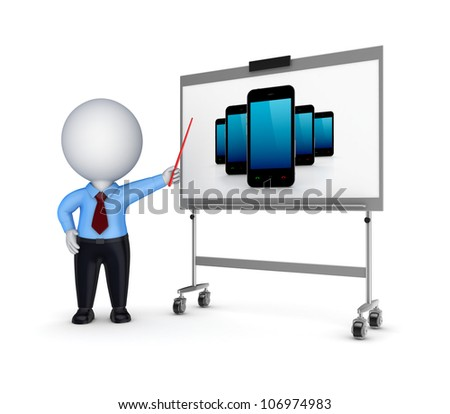 Presentation concept.Isolated on white background.3d rendered. - stock photo