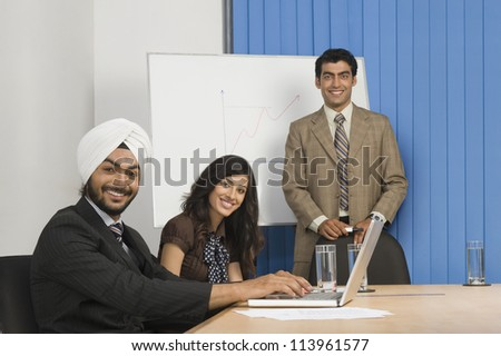 Presentation in a conference room - stock photo