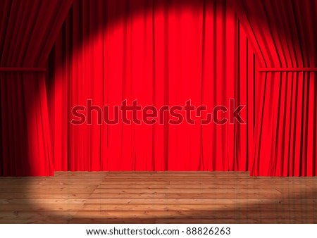 presentation theater - stock photo