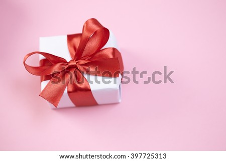 presents for Valentine day - stock photo