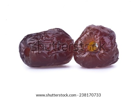 preserved fruits. chinese sugar date preserved fruits on the background. - stock photo
