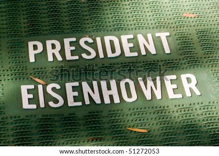 President Eisenhower mat - stock photo
