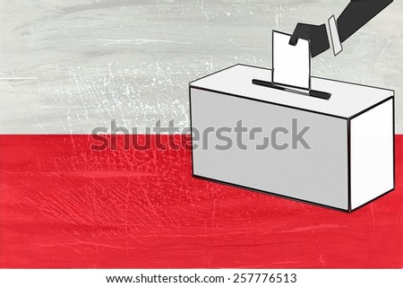 Presidential elections in Poland in 2015 - stock photo