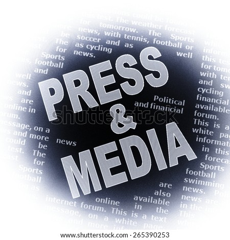 press and media - stock photo