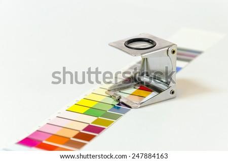Press color management - print production - stock photo