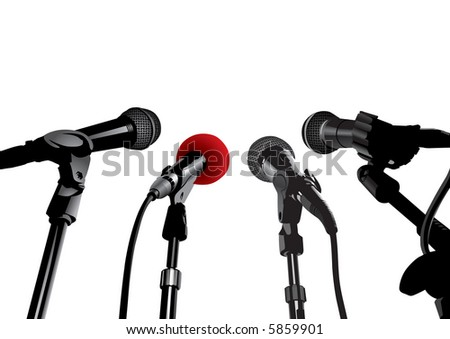 Press Conference (also available vector version of this image in our gallery) - stock photo